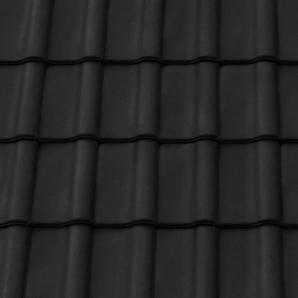 Керамическая черепица подконьковая Tondach Румба Венгрия 300х500 мм черная